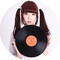 レコード女子画像